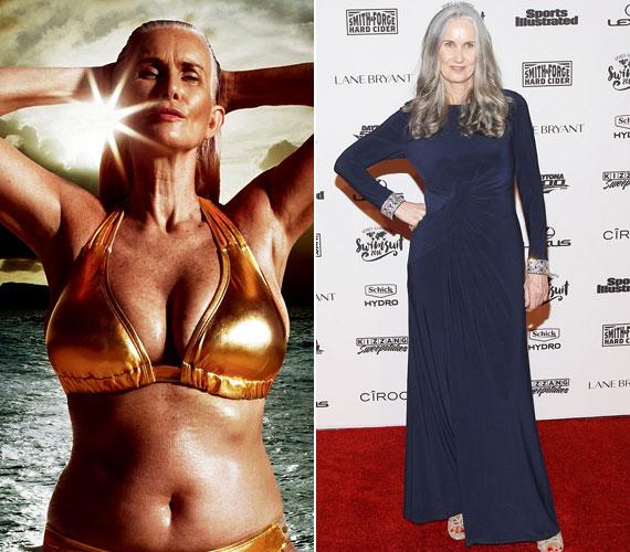 Nicola Griffin 56 éves, a haja ősz, és nem is akar fiatalabbnak látszani a koránál. Gyönyörű, érett nő. A magazinban megjelenő Swimsuit for All hirdetésében szerepel. Ez az a cég, akik tavaly felemelték a szavukat egy szexista bikini body - bikinitest - kampány kapcsán, és elég jól profitáltak belőle.