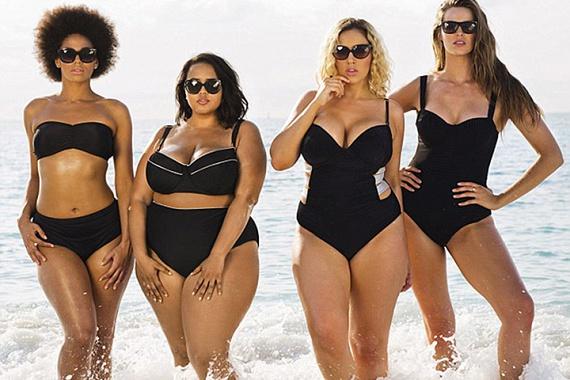 Elképesztően dögös fotó készült fekete fürdőruhákkal is. A négy modellről sugárzik, hogy elégedettek a testükkel, magabiztosak, és tudják magukról, hogy nagyon szexik.