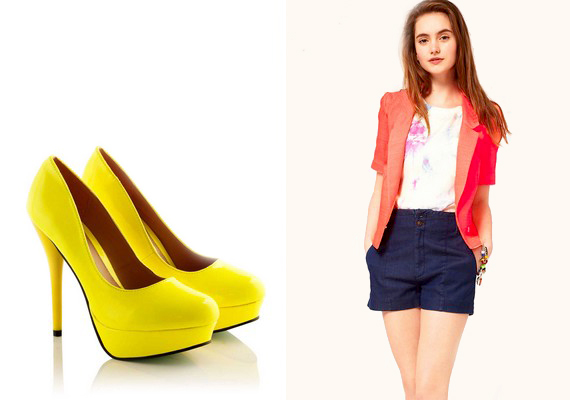 Ha nem esel túlzásba, és nem veszel fel egyszerre négy különböző színű, de neonárnyalatú ruhát, akkor az élénk neonszín sem tabu. Cipők esetében kimondottan jól néz ki, és például egy neon blézer is feldobja az öltözködésedet.