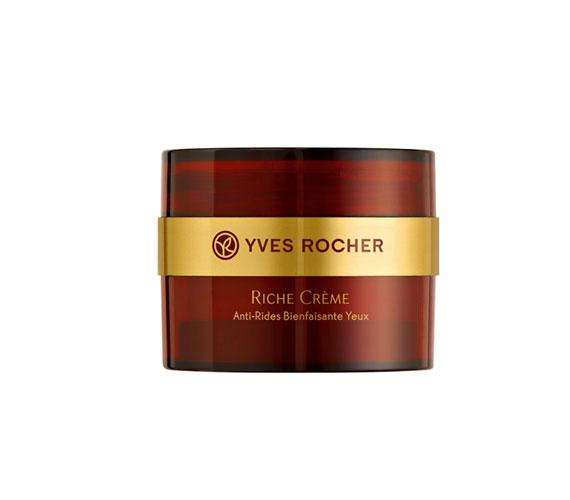 Az Yves Rocher gazdag szemránckrémje értékes növényi olajokkal ápolja a szemkörnyék érzékeny bőrét.