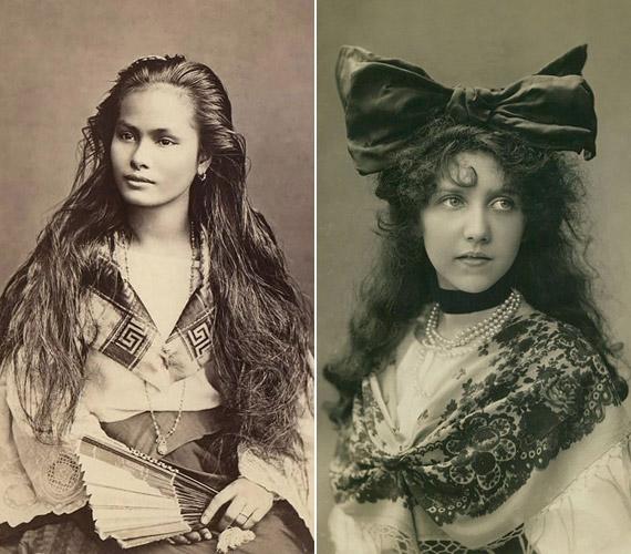 Érdekes összehasonlítani egy fülöp-szigeteki lány és egy amerikai vagy európai kortársa hajviseletét. Ma a természetes fürtöket látjuk szépnek, egy ekkora masnit nem venne fel senki. A bal oldali hajviselet viszont akármelyik mostani divatmagazinban megjelenhetne.