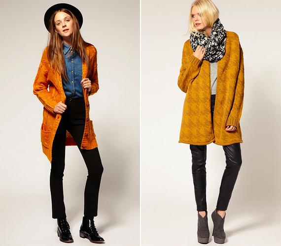 A narancsos, sárgás árnyalatok nagy szerepet kapnak a colour blocking trendben. Egy mustárszínű kardigánnal a legsemlegesebb öltözéket is feldobhatod.