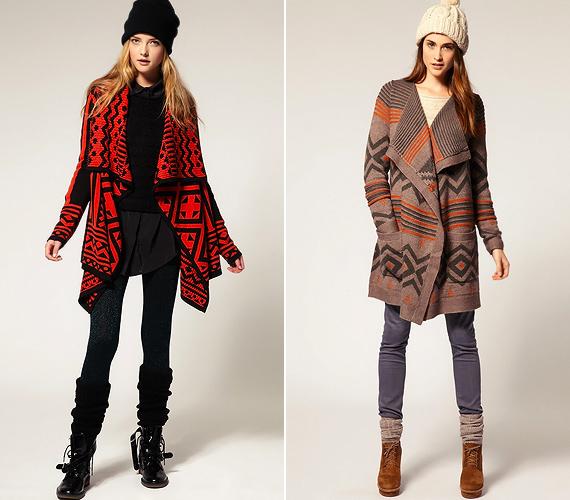 Az etno stílusú kardigánokhoz remekül illenek a rusztikus ingruhák. Ha övvel és magas sarkú bakancscsizmával viseled őket, nem fogsz elveszni bennük.