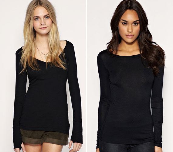 Az egyszerű fekete pulóver mindenhez megy.