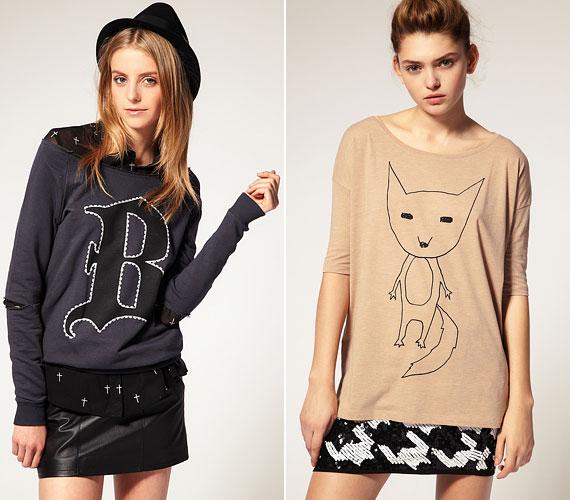 A nyárhoz illenek a mókás és feliratos pulóverek, és hosszú ujjú pólók.