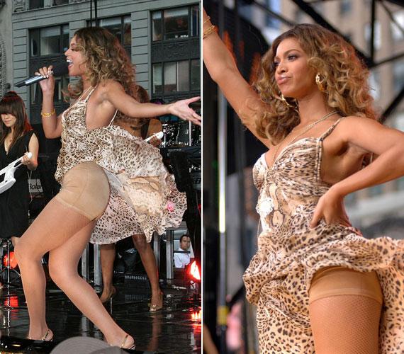 Beyoncé is nagy rajongója az alakformáló fehérneműnek, és ezen a koncerten akaratlanul is megmutatta a rajongóinak.