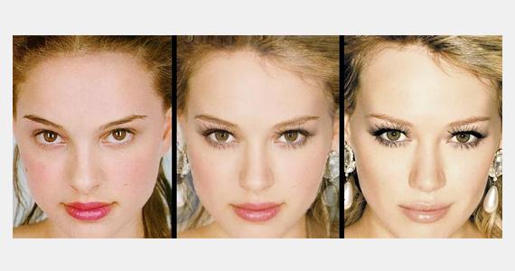 Natalie Portman és Hilary Duff arcvonásai sokban hasonlítanak, így kettejük arcából igazán szép montázs született.