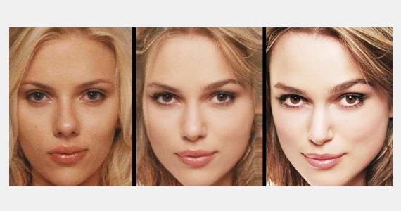 Scarlett Johansson arcát Keira Knightley karakteres vonalaival is összemosták, a végeredmény egy nagyon érzéki nő képe lett.