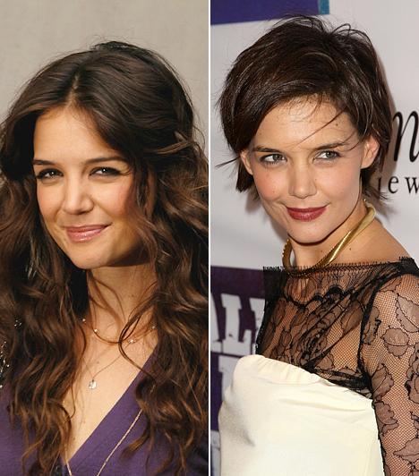 Katie HolmesTom Cruise bájos feleségének nagyon jól állt a hosszú haj, és később a Kleopátra-frizura is, a fiús bubi azonban teljesen elnyomja nőiességét. A rossznyelvek szerint Tom éppen ezt akarja.