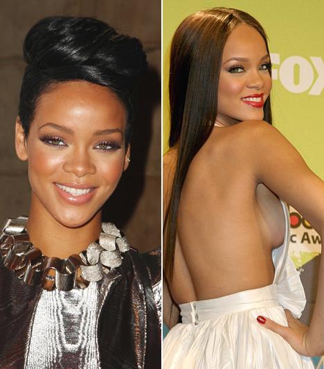 RihannaAz aranytorkú énekesnő igencsak nagy gondot fordít kinézetére. Rövid fürtjei nagyon is meghatározzák külsejét, de a hosszú, szögegyenes haj sem áll rosszul a Grammy-díjas barbadosi énekesnőnek.