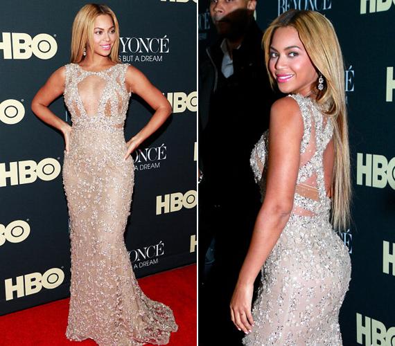 Beyoncé filmjét, a Life Is But A Dreamet 2013-ban mutatták be, melynek premierjére az énekesnő egy dekoltázsát kiemelő darabot választott. Hiába az átlátszó anyag, így is nagyon ízléses volt a választása.
