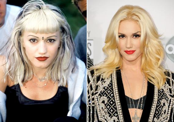 Hol van már a kissé különc külső a szokatlan hajszínnel, tetovált szemöldökkel és előnytelen sminkkel? Gwen Stefaninak kifejezetten jót tett az évek múlása, három gyermeke mellett igazi nő vált belőle.