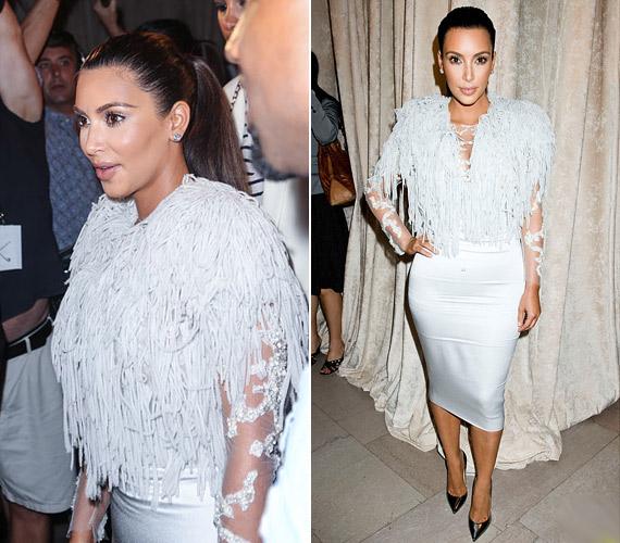 És ne becsüljük alá a hasfogó fehérneműk hatását se, Kim Kardashian szinte biztos, hogy ilyet visel a ruha alatt, de nagyon helyesen melltől combig érőt, ami nem képez hurkát.