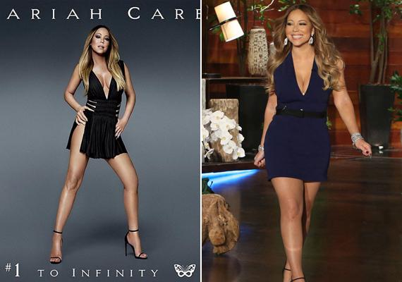 Mariah Carey nőies idomai teljesen eltűntek az említett borítón, ábrázolt alakja meg sem közelítette a valóságost.
