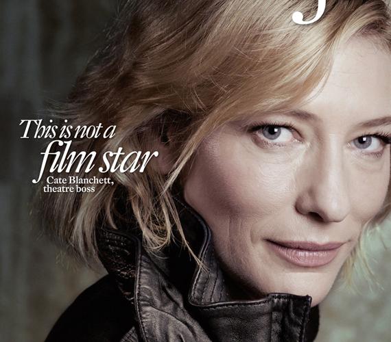 Cate Blanchett arca közelről a 2012-es Intelligent Life címlapján. Az apró ráncok is látszanak, ezért is szerethető a kép.