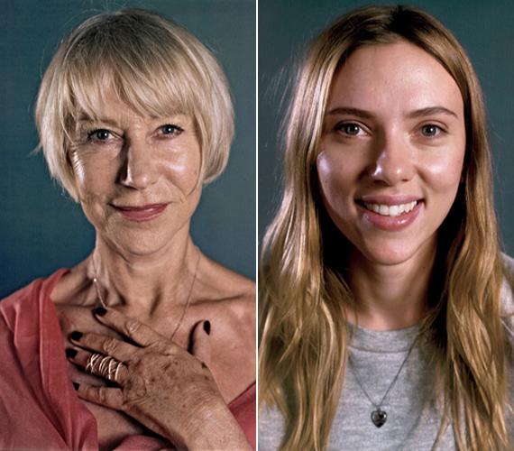 A Vanity Fair 2014-ben lerántotta a leplet a hollywoodi sztárok, köztük Helen Mirren és Scarlett Johansson valódi arcáról. Szerintünk mindkét színésznő gyönyörű, vörös szőnyeges ruha és smink nélkül is.