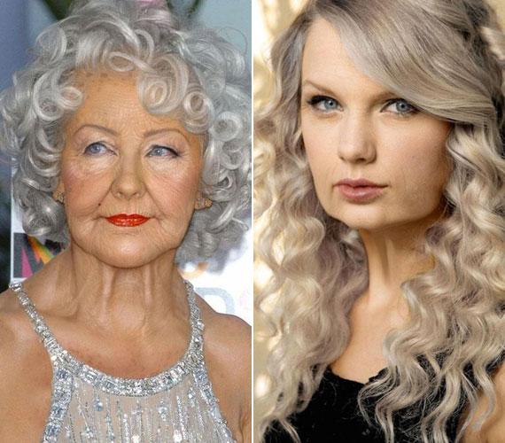 Christina Aguilera és Taylor Swift csinos idős hölgyek lesznek.
