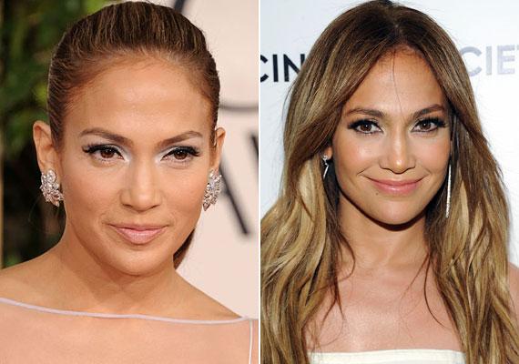 Jennifer Lopez meleg barna szeméhez soha nem szabadott volna jeges kéket választani, inkább egy kellemes barnát, ami nem kevésbé feltűnő.
