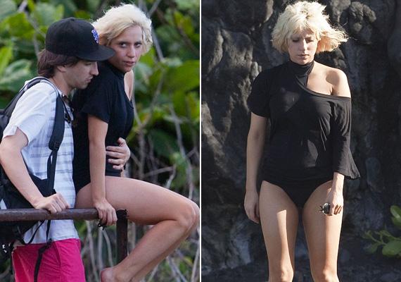 Lady Gaga nem a legelőnyösebben fest a képeken, melyek 2009-ben készültek róla, akkori barátjával, de azóta ő maga is posztol smink nélküli fotókat a Facebook-oldalán.