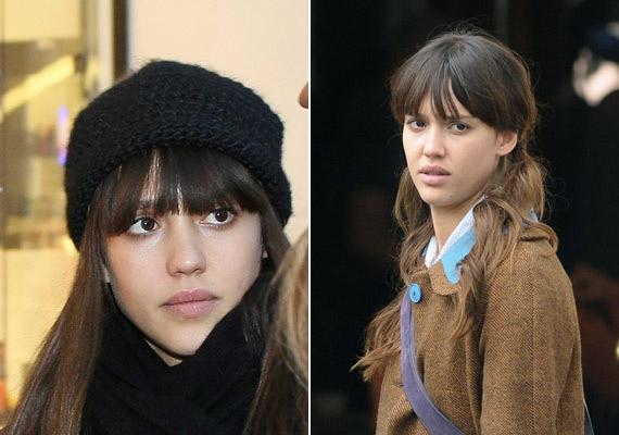 Jessica Alba bájos arca smink nélkül is érvényesül, csak ne vágna utálkozó arcot.
