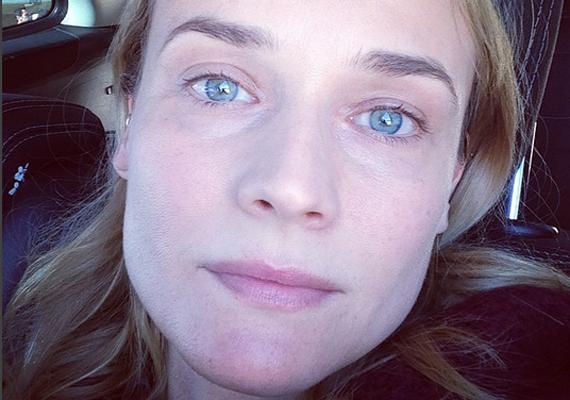 """Diane Kruger ehhez a képhez azt írta, hogy """"fogalmam sincs, miért nézek ki néha még mindig úgy, mint egy tinédzser"""". A színésznő most 39 éves."""