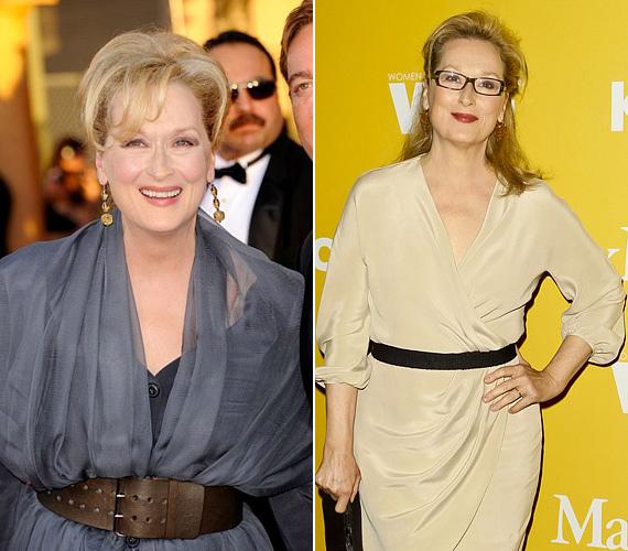 Meryl Streep nem éppen tegnap hagyta maga mögött a 40-edik életévét, sőt, már a 60-at is túllépte. A külseje alapján azonban ezt nehezen lehet elképzelni róla. Hihetetlen, hogy a rettegett szürke színt is úgy tudja viselni ebben a korban, hogy meghazudtolja annak öregítő hatását. A bézs sem sápasztja, de valószínűleg az tükröződik ilyen energikusan a színésznő stílusából, hogy összhangban áll belső önmagával.