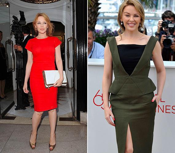 Kylie Minogue-nak egyáltalán nem kell a kora miatt aggódnia, hiszen ugyanolyan szexi, formás alakja van, mint huszonévesen. Ám a stílusa most érett be igazán, egészen elképesztő, ahogy a visszafogott és vadító eleganciát ötvözi. Olyan fazonokat választ, melyek nem villantanak merészen, mégis kiadják tökéletes formáit.