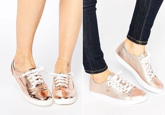 Egy pillekönnyű tornacipő rendkívül kellemes viselet, a púderrózsaszín árnyalatnak és a fényes felületnek köszönhetően pedig sokkal nőiesebb, mint korábban.