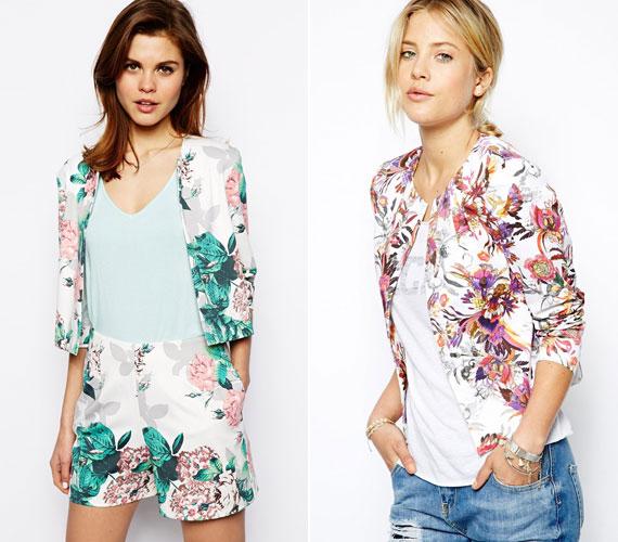 A színes, mintás blézerek és kis dzsekik nagyon népszerűek lesznek idén tavasszal és nyáron. Válassz belőlük fehér alapon virágmintásat, ami vidám és nőies.