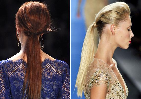 Ennél a copfnál a hajat előbb tupírozzák, majd utána fogják össze. Ezt is tekinthetjük az épphogy felkeltem-frizura egy változatának.
