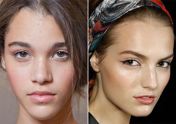 A finom pirosítás nem is nevezhető trendnek, de az igen, ha az arc szinte natúr, és csak az arccsontra irányul a figyelem.