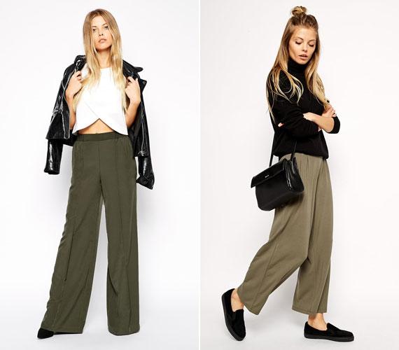 A széles barna vagy katonazöld nadrágokat van, aki unalmasnak találja, de lehet, hogy éppen nincs kedved kitűnni a tömegből.