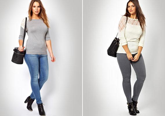 70 kilóig bátran felvehetsz testhezállóbb ruhákat is. Felsőből olyat válassz, aminek a nyaka vagy válla körül van valami díszítés, így oda irányítja a figyelmet a kritikus helyekről.