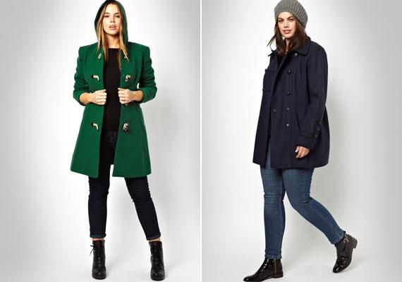 Télikabátból mindenképpen válassz hosszabbat, ami eltakarja a popsit. Ha kicsit bővebb, vagy lent bővülő szabása van, a kabát a hasi felesleget is elbújtathatja.