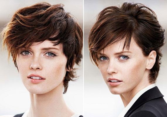 Az előre hosszabbodó frizurát is lehet bohémra, illetve elegánsabbra fésülni.