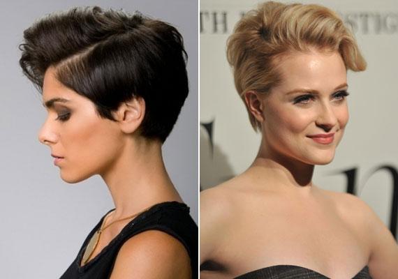Az erős oldalválasztékos frizura tavaly is nagy sláger volt, itt Evan Rachel Woodon látható, de idén is menő lesz.