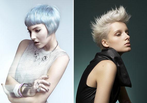 Az extrém, világos hajszínek a legjobban rövid hajon érvényesülnek.