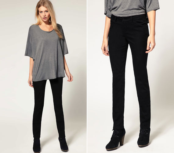 Egy egyszerű fekete nadrág mindig csodákra képes, főleg, ha a felső lazább.