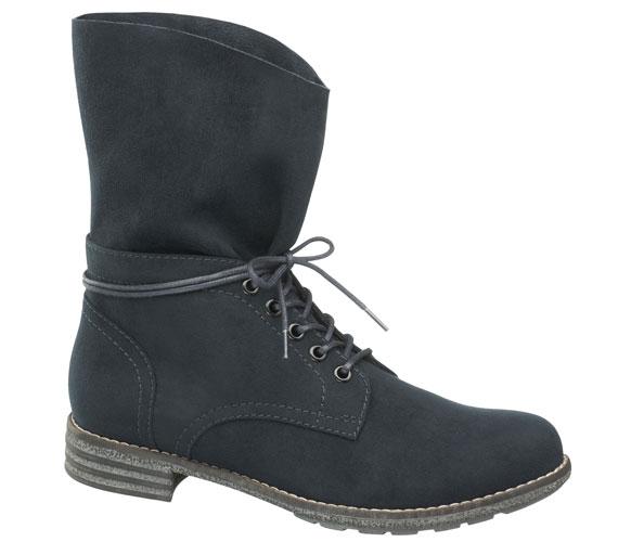 A boyfriend stílus már nemcsak a farmerek közt követel magának helyet, de a cipők közt is felütötte a fejét. Ez a változatosan hordható, praktikus fekete bakancs 7990 forintba kerül.