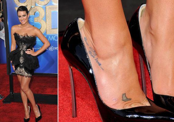 Lea Michele sem választott jól, rá nem kicsi, hanem nagy a cipő, csoda, hogy ki nem esik belőle.