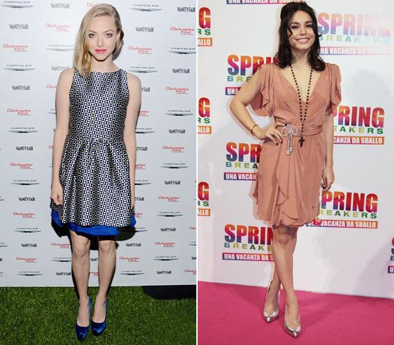 Remek ötlet Amanda Seyfriedtől és Vanessa Hudgenstól, hogy a ruhájukon visszaköszön a cipőjük színe.