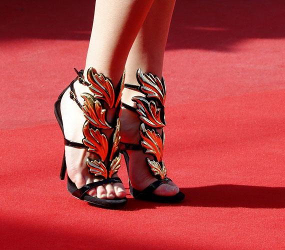A cannes-i filmfesztiválon egy színésznő ezt a cipőcsodát viselte a Venus in Fur című film bemutatóján. Csodaszép.