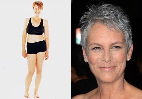 Jamie Lee Curtis nem festi, a haját és pár éve a More magazinnak pózolt fehérneműben, hogy megmutassa, így néz ki egy igazi nő normál fénynél, Photoshop és minden nélkül.