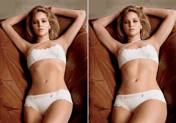 Jennifer Lawrence testén is fogott a retus a GQ magazin fotózásán, pedig mindenki imádja, hogy a színésznő nem az a piszkafa alkat, hanem egészéges testképpel rendelkezik.