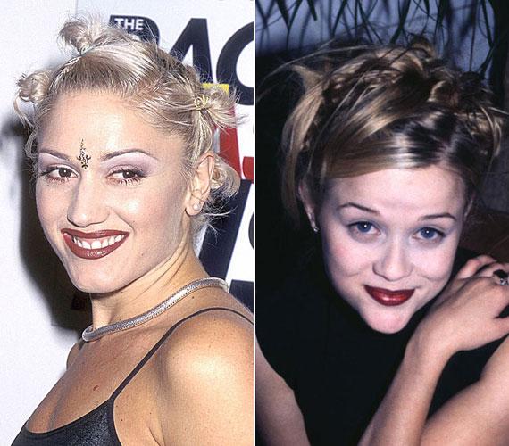 A senkinek nem előnyös barnáspiros rúzs igen népszerű volt valamiért. Boldog-boldogtalan viselte attól függetlenül, hogy illet-e a saját színeihez, vagy nem. Gwen Stefani és Reese Witherspoon ma már nem tenné fel.