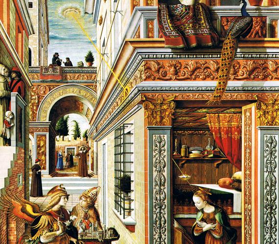 Carlo Crivelli festményét, melyen bal oldalt, felül látható egy űrhajóra emlékeztető jelenség, a londoni National Galleryben őrzik.