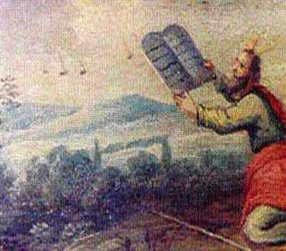A belgiumi Earls D'Oltremond-ban őrzött régi festmény Mózest ábrázolja a kőtáblákkal, valamint néhány különös égi jelenséget.