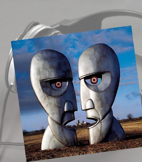 Pink Floyd: The Division BellA The Division Bell a Pink Floyd 1994-ben megjelent és ezidáig utolsó stúdióalbuma. Az együttes grafikusa, Storm Thorgerson számos borítóterve közül választották a két kőszobrot, melyek egymással szemben egyetlen arcot adnak ki. A grafikus nem alkalmazott trükköket: a szobrokat valóban elkészítették, majd egy vidéki réten fotózták le. Hogy a sajtó előtt titokban tartsák, katonai álcával fedték le.