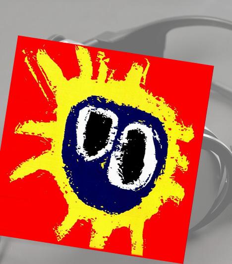 Primal Scream: ScreamadelicaA Primal Scream 1991-es lemeze a banda legnagyobb sikere volt. A borítón Paul Cannel egyik festménye szerepel, mely azonban nem az első terv volt a lemezhez. Eredetileg a zenekart egy modell társaságában szerették volna lefotózni, de ezt mindenki elvetette. Ezután jött Cannel ötlete, annyi módosítással, hogy a hátteret pirosra változtatták. Bár a borító egyszerű, olyan jelképpé vált, mint a Rolling Stones ikonikus nyelves logója.