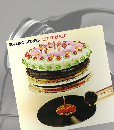 Rolling Stones: Let It BleedA legendás banda 1969-ben megjelent nyolcadik albuma már önmagában is nagy sikert aratott, 1998-ban pedig a Q Magazin olvasói beválasztották minden idők legjobb albumai közé. A szürreális borítóterv Robert Brownjohn munkája, akit az album munkacíme, az Automata váltó ihletett. A pop-art stílus kiemelkedő alkotásán a híres szakácskönyvíró, Delia Smith egyik tortája látható - többek között.